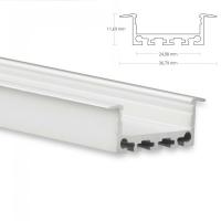 LED Aufbau-Profil 200 cm Aluschiene flach / Flügel...