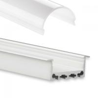 LED Aufbau-Profil 200 cm Aluschiene flach / Flügel /Lichtband max. 24mm