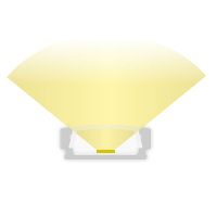2m Aufbauprofil flach für maximal 12mm LED Lichtband PL1