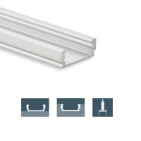2m Aufbauprofil flach für maximal 12mm LED Lichtband...