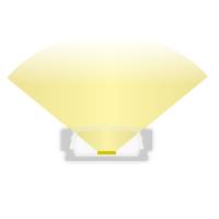 2m Aufbauprofil flach für maximal 12mm LED Lichtband PL1 flache Abdeckung