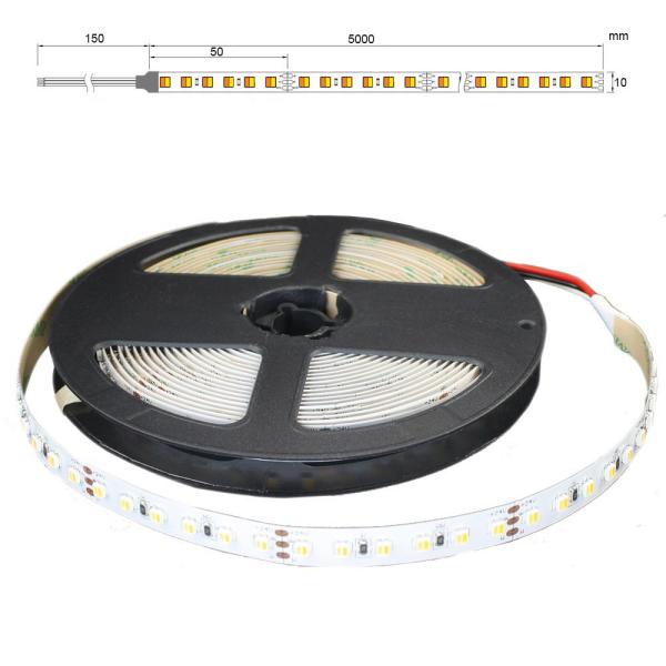 2in1 CCT Farbtemperaturwechsler LED Weiß zu Warmweiß LED Lichtband Stripe 5m 24VDC SMD3527 IP65 Nano