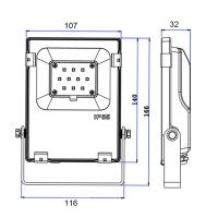 RGBCCT Fluter Strahler Gartenstrahler mit 10 - 60 Watt ZigBee kompatibel 10 Watt