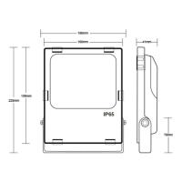 RGBCCT Fluter Strahler Gartenstrahler mit 10 - 60 Watt ZigBee kompatibel 30 Watt