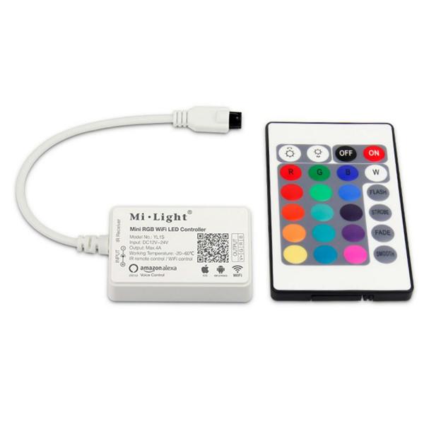 RGB Controller YL1S mit IR Fernbedienung und WLAN Alexa kompatibel
