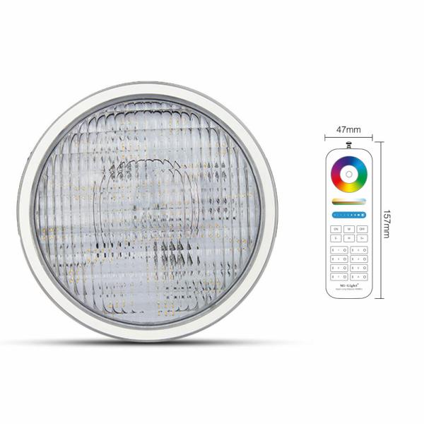 LED RGB+CCT Poolbeleuchtung mit RGB Farbwechsel und CCT MiLight PW01 Leuchtmittel mit Fernbedienung