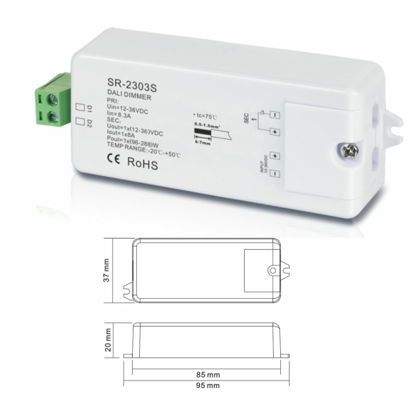 Dali Dimmer 12-36VDC 8A 2303S