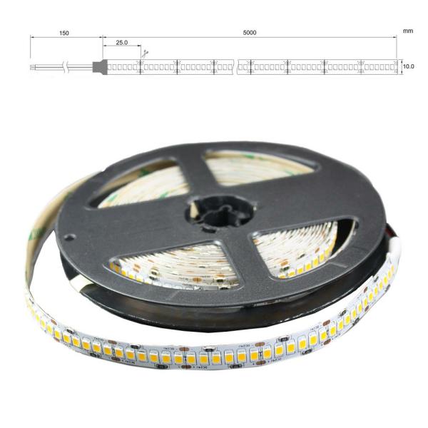 LED Lichtband 240 LED/M 5m Strip 12W/M mit 24VDC 2835 SMD IP20 Öko 2700 Kelvin