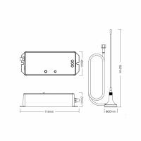 433 MHz MiBoxer Steuergerät für Poolbeleuchtung RGBCCT WL-433 DMX WL-Box2
