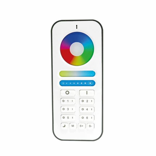 Fernbedienung zu LED Steuergerät 2.4G für RGBCCT Beleuchtung 6-Kanal Zonen