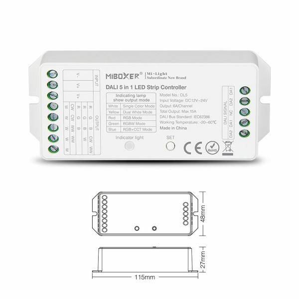 DALI 5in1 Steuerung LED Single bis Farbwechsel Device  DL5