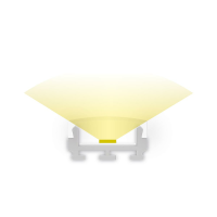 2m Aufbauprofil flach für maximal 12mm LED Lichtband