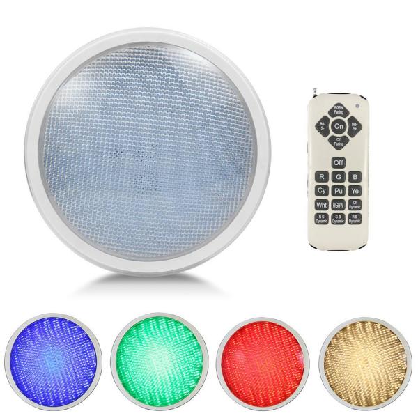 LED RGBW Poolbeleuchtung RGB Farbwechsel warmweißem Licht mit Fernbedienung