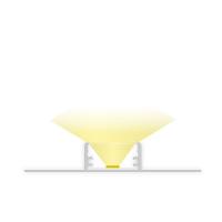 2m Trockenbauprofil für LED Lichtband max. 20mm