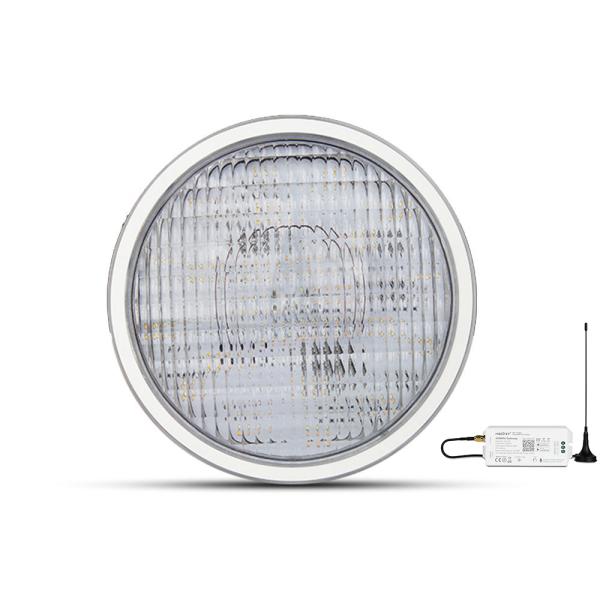 LED RGB+CCT Poolbeleuchtung mit RGB Farbwechsel und CCT MiLight PW01 Leuchtmittel mit App oder DMX
