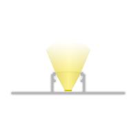 2m Fliesenprofill für LED Lichtband max. 14mm Flügel zum spachteln