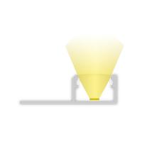 2m Fliesenprofill für LED Lichtband max. 14mm Abschluss zum spachteln