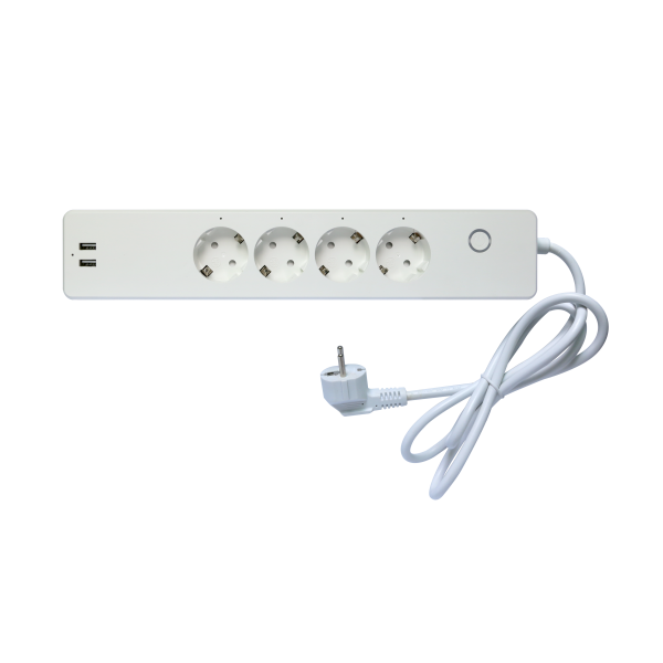 ZigBee 3.0 Steckdosenleiste 4fach mit 2x USB-Anschluss