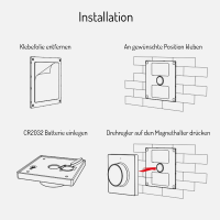 CCT Wandschalter Drehdimmer mit Magnethalter Batteriebetrieben