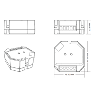 ZigBee Triac Dimmer für Einbaudose Unterputz Steuergerät Controller ZigBee für Schalter