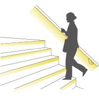 Treppenbeleuchtung mit LED Lichtbänder