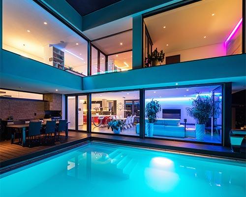led poolbeleuchtung led gartenstrahler led beleuchtung. Black Bedroom Furniture Sets. Home Design Ideas
